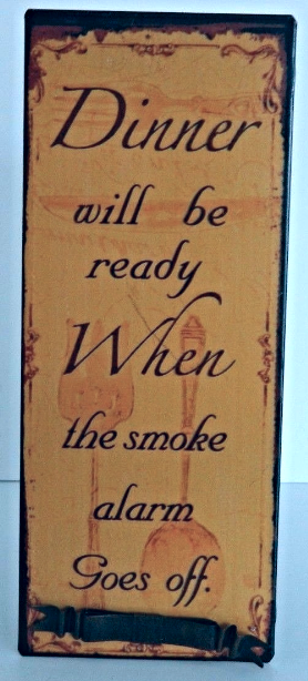 "Primary image for ""Dinner Will Be""  Antique Style Wall Art Sign Home Decor"