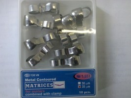 Dental Metal Contoured Matrices Molar Combined&Clamp 10pc Shap 3  Item N... - $10.58