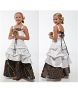 New Camo Flower Girl Dresses White And Camouflage - $209.18 CAD