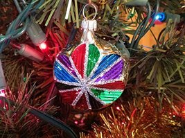 Multi Color Faceted Reflective Star Hand Painted Glass Ornament [Kitchen]