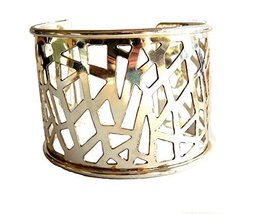 Silver Plated Abstract Filigree Wide Cuff Bracelet [Jewelry]