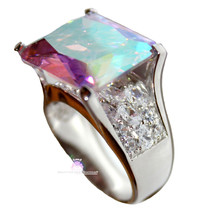 925 Sterling Silver Womens His Presence of God Aurora Borealis Ab Chunky... - $96.99
