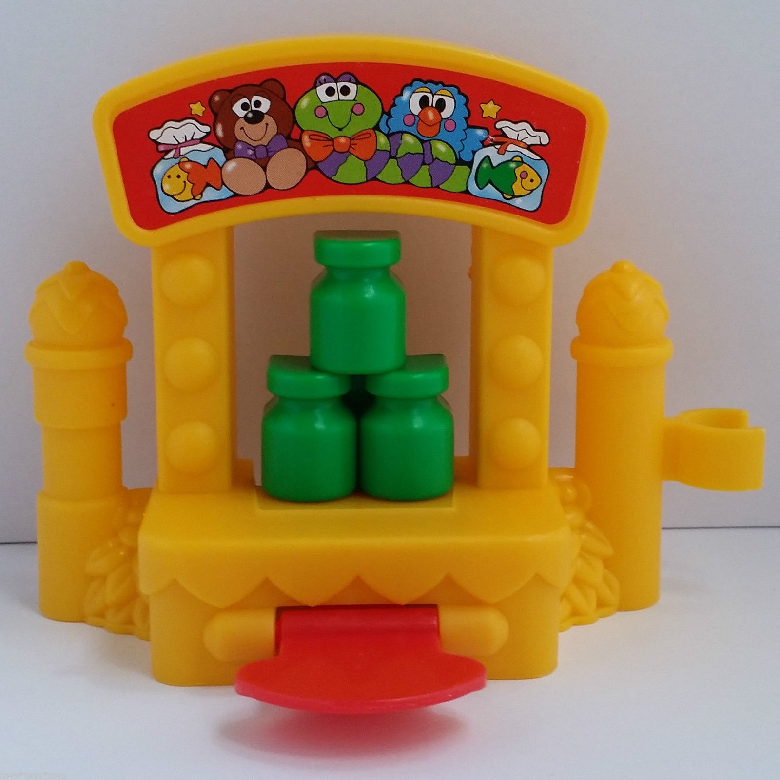 Fisher Price Little People BOTTLE GAME STAND for Ferris Wheel Toy Carnival Fair