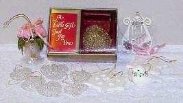 Crystal, Glass & Ceramic Christmas Ornaments HEARTS, HARP, BIRD & SNOWFL... - $14.00