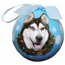 Siberian Husky Ball Ornament - $13.95