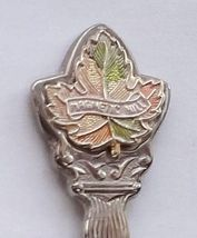 Collector Souvenir Spoon Canada New Brunswick Magnetic Hill Maple Leaf - $9.99