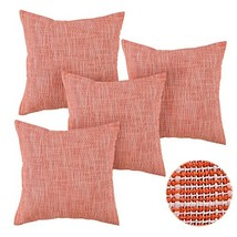 Deconovo Zippered Throw Pillow Covers Cushion Case for Floor Orange and White Me