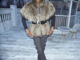 Unique Finnish Tanuki Raccoon Fur Vest to Coat Jacket M - $539.99