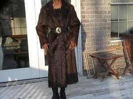 New old stock Designer Full length sable brown Nutria Fur Coat jacket S-M 4-10 - $999.99