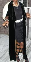 Rare Mint Genuine Period Full length Black Velvet & Ermine fur Vest Coat XS-S - $749.99