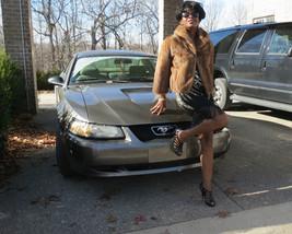 Unique cropped brown Mink fur coat jacket bolero stroller , s-m 0-8/10 - $569.00