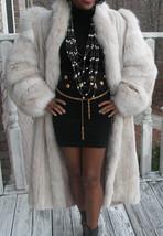 Mint young Full length Cream white Platinium Blush Mink & Blush Fox Fur Coat M - $1,999.99