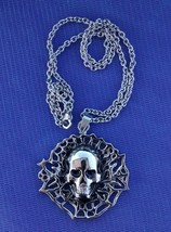nice skull pendant andchain-stainless steel-20 inch chain - $14.95