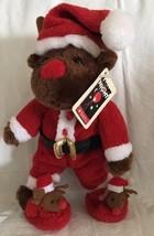 "2006 Plushland REINDEER Christmas Santa Costume Suit Plush w/Tags 8"" - $14.99"