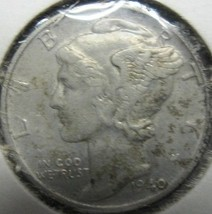 Mercury Dime 1940 VF - $7.11