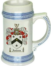 Ammons Coat of Arms Stein / Family Crest Tankard Mug - $21.99