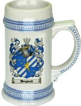 Bergwall Coat of Arms Stein / Family Crest Tankard Mug - $21.99
