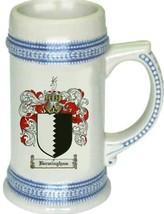 Bermingham Coat of Arms Stein / Family Crest Tankard Mug - $21.99