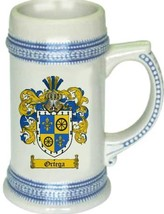Ortega Coat of Arms Stein / Family Crest Tankard Mug - $21.99