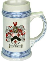Tufts Coat of Arms Stein / Family Crest Tankard Mug - $21.99