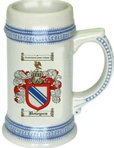 Bowyers Coat of Arms Stein / Family Crest Tankard Mug - $21.99
