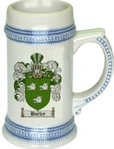 Burley Coat of Arms Stein / Family Crest Tankard Mug - $21.99