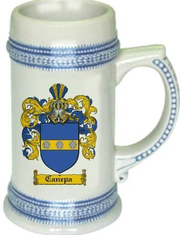 Canepa Coat of Arms Stein / Family Crest Tankard Mug