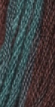 Verdigris (0970) 6 strand hand-dyed cotton floss Gentle Art Sampler Threads - $2.15