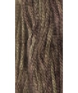Green Tea Leaf (0195) 6 strand hand-dyed cotton... - $2.15
