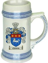 Chevelu Coat of Arms Stein / Family Crest Tankard Mug - $21.99