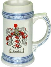 Coombs Coat of Arms Stein / Family Crest Tankard Mug - $21.99