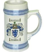 Creighton Coat of Arms Stein / Family Crest Tankard Mug - $21.99