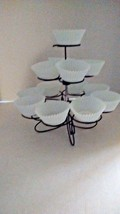 Wilton 3 Tier BLACK Cupcake Muffins Stand Holder Metal Wired Spiral  - $19.99