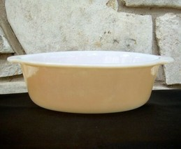 Fire King Oval Casserole Copper Tint Dish Peach Lustre 1.5 Qt No Lid Vintage - $9.99