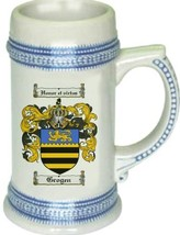Grogen Coat of Arms Stein / Family Crest Tankard Mug - $21.99