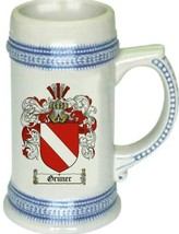Gruner Coat of Arms Stein / Family Crest Tankard Mug - $21.99
