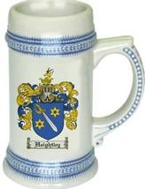 Haightley Coat of Arms Stein / Family Crest Tankard Mug - $21.99