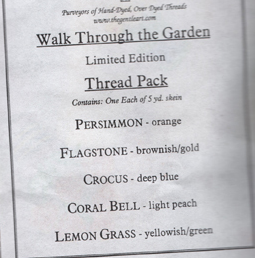Walk Through The Garden Limited Edition Colors 5 skeins The Gentle Art