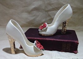 Set of Two (2) Vintage Collectible Decorative Porcelain High Heeled Shoes - $11.99