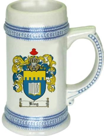 King Coat of Arms Stein / Family Crest Tankard Mug