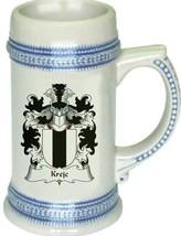Krejc Coat of Arms Stein / Family Crest Tankard Mug - $21.99