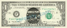 SIMPLE PLAN Music Band on REAL Dollar Bill Cash Money Bank Note Currency... - $4.44