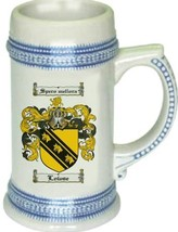 Lowse Coat of Arms Stein / Family Crest Tankard Mug - $21.99