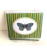 3.75'' x 5'' Blue Moth/Butterfly Set of 6 Notec... - $3.88