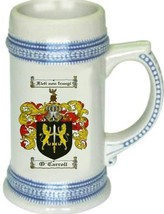 O'Carroll Coat of Arms Stein / Family Crest Tankard Mug - $21.99