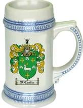 O'Curtin Coat of Arms Stein / Family Crest Tankard Mug - $21.99