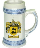 O'Rourke Coat of Arms Stein / Family Crest Tankard Mug - $21.99