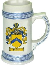 Perrin Coat of Arms Stein / Family Crest Tankard Mug - $21.99