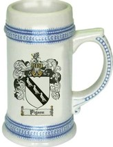 Pigeon Coat of Arms Stein / Family Crest Tankard Mug - $21.99