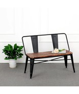 iKayaa 2 Seater Kitchen Dining Bench Chair W/ Backrest Natural Pinewood Top  - $125.99